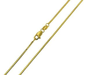 """14K Solid Real Yellow Gold 1mm Box Link Chain Necklace 16/"""" Inches Baby Children"""