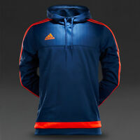 adidas Mens Tiro 15 Blue Long Sleeved Fitness Sport Football Hoodie Hoody S27116