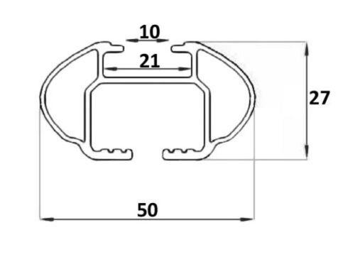 Relingträger Quick für Hyundai ix35 10-15 aufliegende Reling silber
