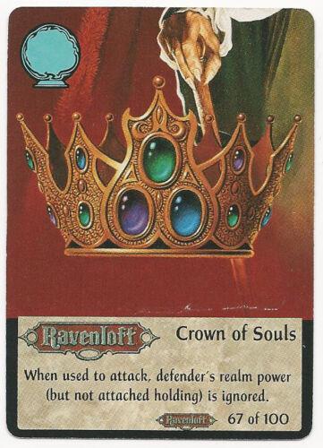 "SPELLFIRE TCG BOOSTER SET 2 RAVENLOFT #67 OF 100 /""CROWN OF SOULS/"" TSR"