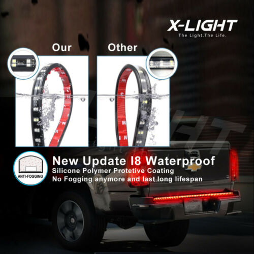 Multi-function LED Rear Tailgate Light Bar Strip For Toyota Hilux 2005-2015 UTE