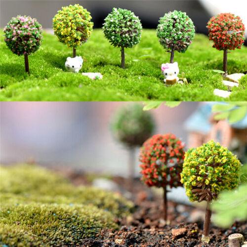 5x lot Simulation Baum Blume Bunte Kugel Baum Micro Landschaft Decor  TRSDE