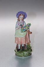 Sitzendorf Figurine, Girl With Flower Basket.
