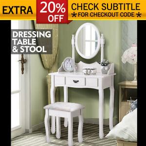 Luxury-Dressing-Table-amp-Stool-Mirrors-Jewellery-Cabinet-Drawers-Makeup-Organiser
