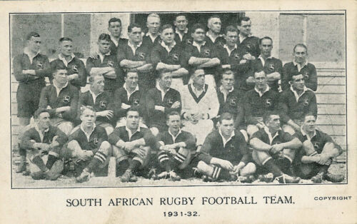 193132 South African Rugby Football m. Fixtures etc vintage rugby postcard