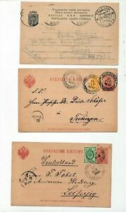 Estonia-Latvia-Early-Postcards-Stationery-x-8-ZZ111