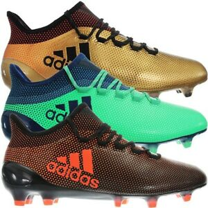 timeless design dbb9a a917e Details about Adidas X17.1 FG gold or green Men's Professional Soccer Boots  FirmGround NEW