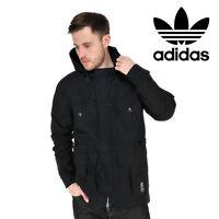 Adidas Originals Mens Stryka Parka Coat Jacket Black Casual Free Tracked Post