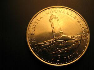 Canada-1992-Nova-Scotia-Province-Commemorative-25-Cent-Mint-Coin