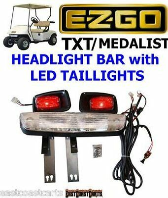 EZGO TXT-MED Golf Cart HEADLIGHT & TAILLIGHT, Head Light Bar Kit