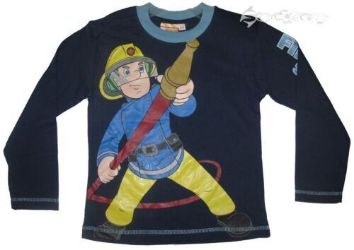 Boys Fireman Sam Long Sleeve Cotton Top Ages 1-6 Years