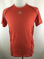 NEW Adidas Climacool Men's M Red Crewneck Spandex Compress Sport Shirt Athletic
