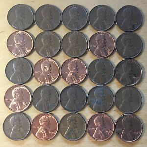 wheat penny 6 FULL ROLL/'S OF 50 CENTS ABOVE AVG 1940/'S-1950/'S LINCOLN CENT LOT 6