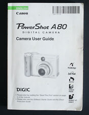 CANON POWERSHOT A80 CAMERA USER GUIDE