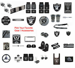 New-NFL-Oakland-Raiders-Pick-Your-Gear-Car-Truck-Accessories-Official-Licensed