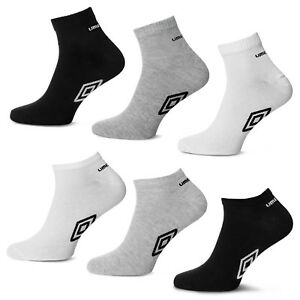 2562d6d0a47a UMBRO SOCKS Mens Womens Quarter Sneaker Ankle Socks White Black Grey ...