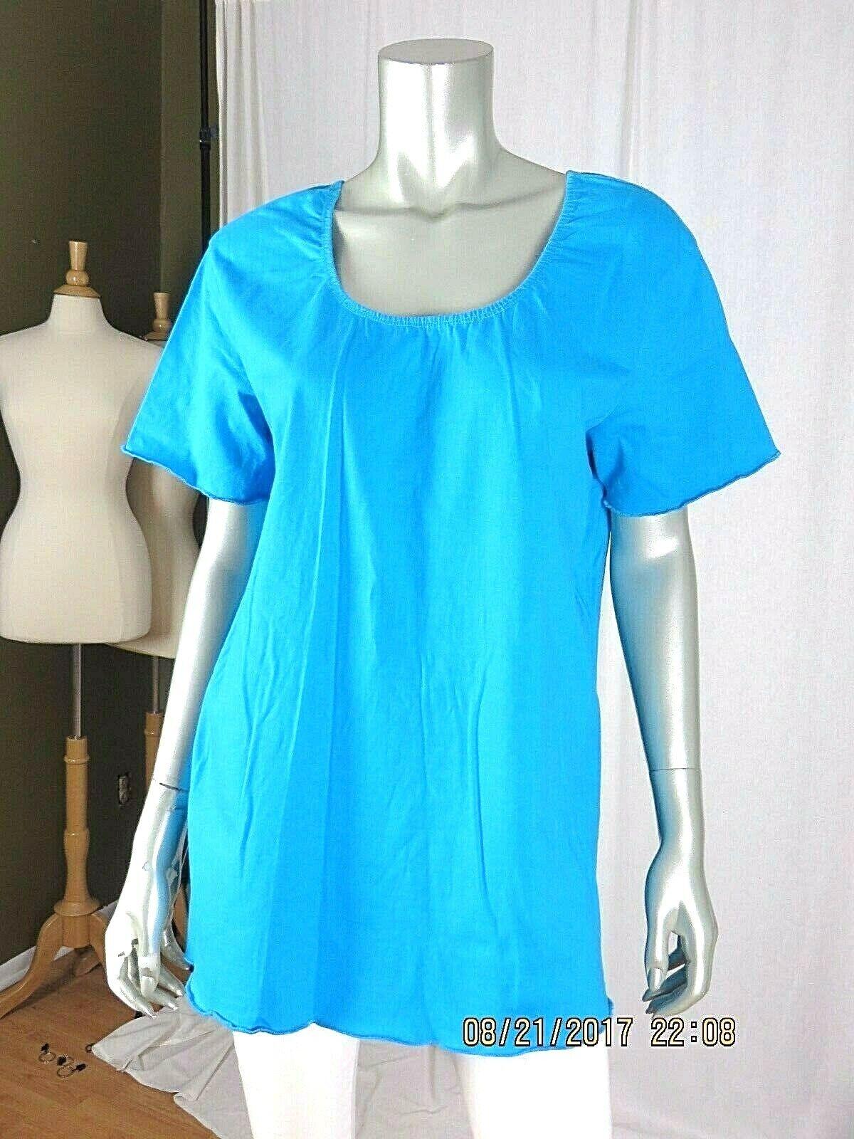 VENEZIA VITALE SZ L 100% Cotton Turquoise Blue Ru… - image 2