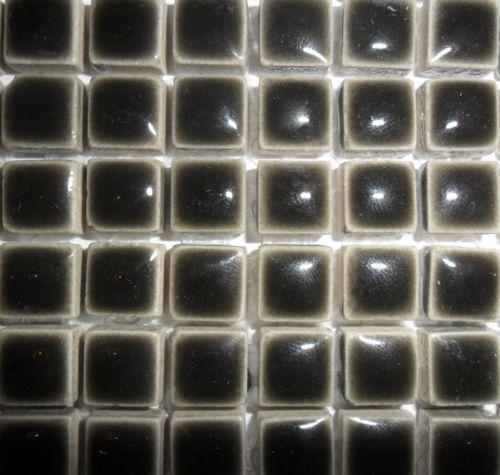 81 mini vetro mosaico in ceramica 10 mm-Carbone