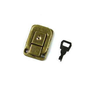 Black 47mm Square shape Drawbolt Closure Latch for Guitar Case with Lock