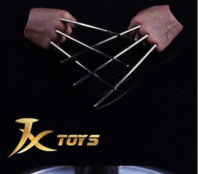 JXtoys JX04A 1//6 Wolverine Logan Metal Bloody Claw Hands Realistic Hair worldbox
