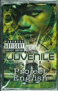 JUVENILE-034-PROJECT-ENGLISH-034-2001-CASSETTE-TAPE-SEALED-RARE-HTF-CLASSIC-RAP