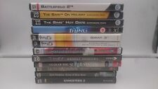 PACK 12 JUEGOS PC:THE SIMS ON HOLIDAY, HOT DATE,BATTLEFIELD 2, TOMB RAIDER...