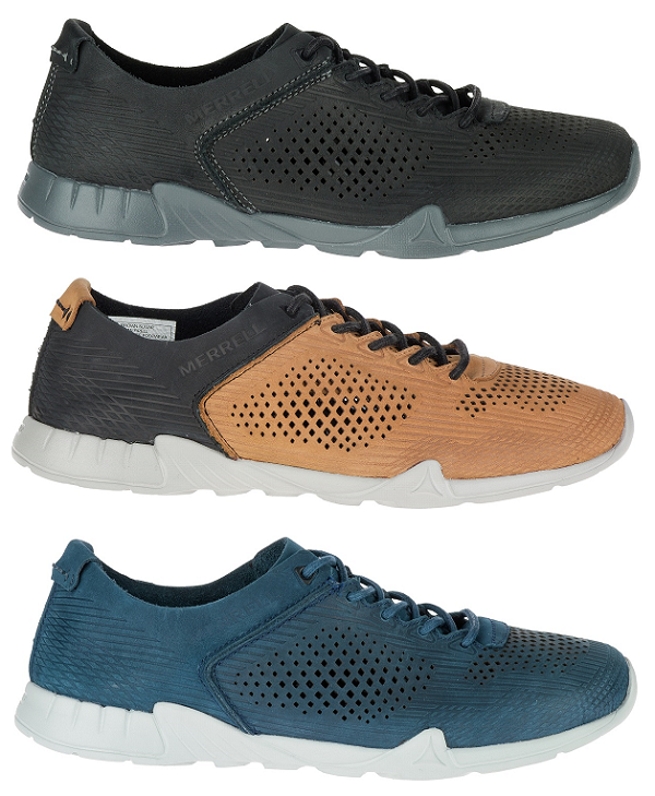 Merrell Versent Leather Perf Mens scarpe Casual scarpe da ginnastica Trainers All Dimensione New