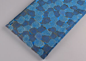 BY1-2-YD-X-46-034-CLSSIC-SILK-DAMASK-JACQUARD-BROCADE-STAIN-FABRIC-ROSE-IS-BLUE