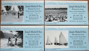 Monroe La 1947 Advertising Blotters Set Of Four Joseph