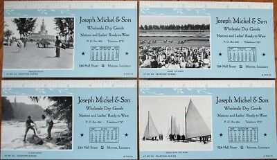 Monroe La 1947 Advertising Blotters Set Of Four Joseph