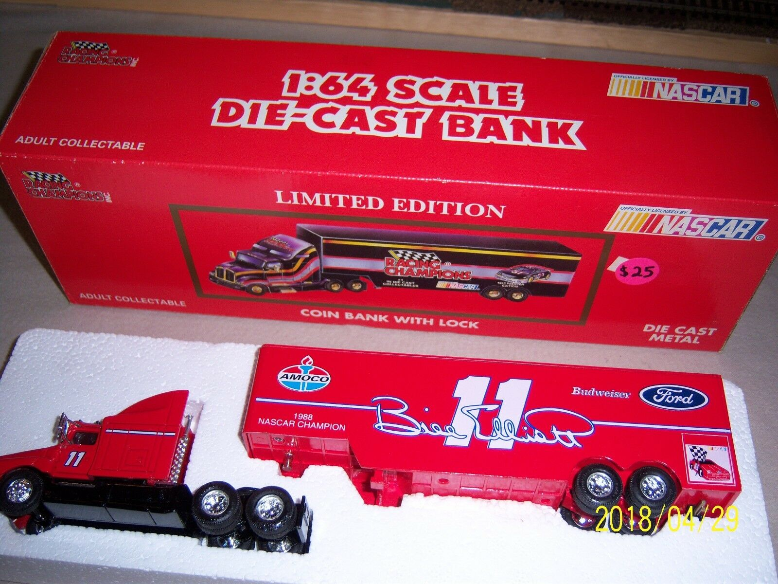Bill Elliott Budweiser Ford Ford Ford Racing Champions Bank 9e5904