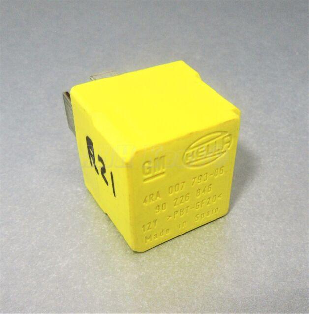 Saab 9-3 9-5 4-Pin Amarillo Glow Plug/Ignición Relé 90226846 Hella 4RA007793-06