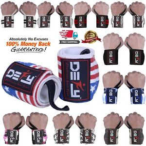 DEFY-Power-Weight-Lifting-Wrist-Wraps-Supports-Gym-Workout-Bandage-Straps-18-034