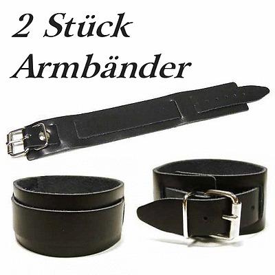 2.Wahl Lederarmband Armband mit 2-Schnallen Gothic Biker Leder Armband schwarz