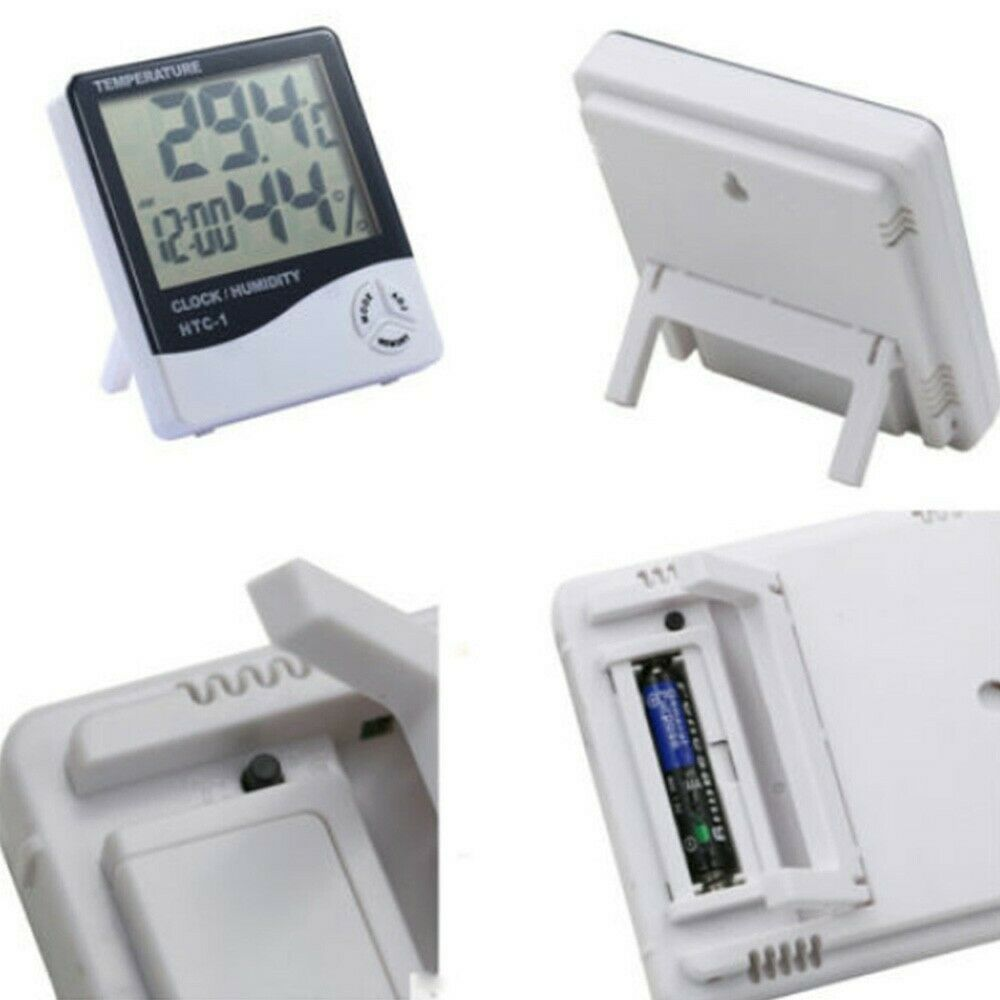 Alarm Clock Thermometer Hygrometer Humidity Indoor LCD Fashion New Practical