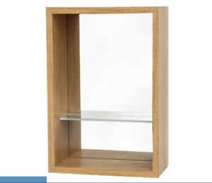 Mirrored-Shelf-Unit-Wooden-Glass-SiL-Interiors-Mensola-NEW-FREE-NEXT-DAY-P-amp-P-R