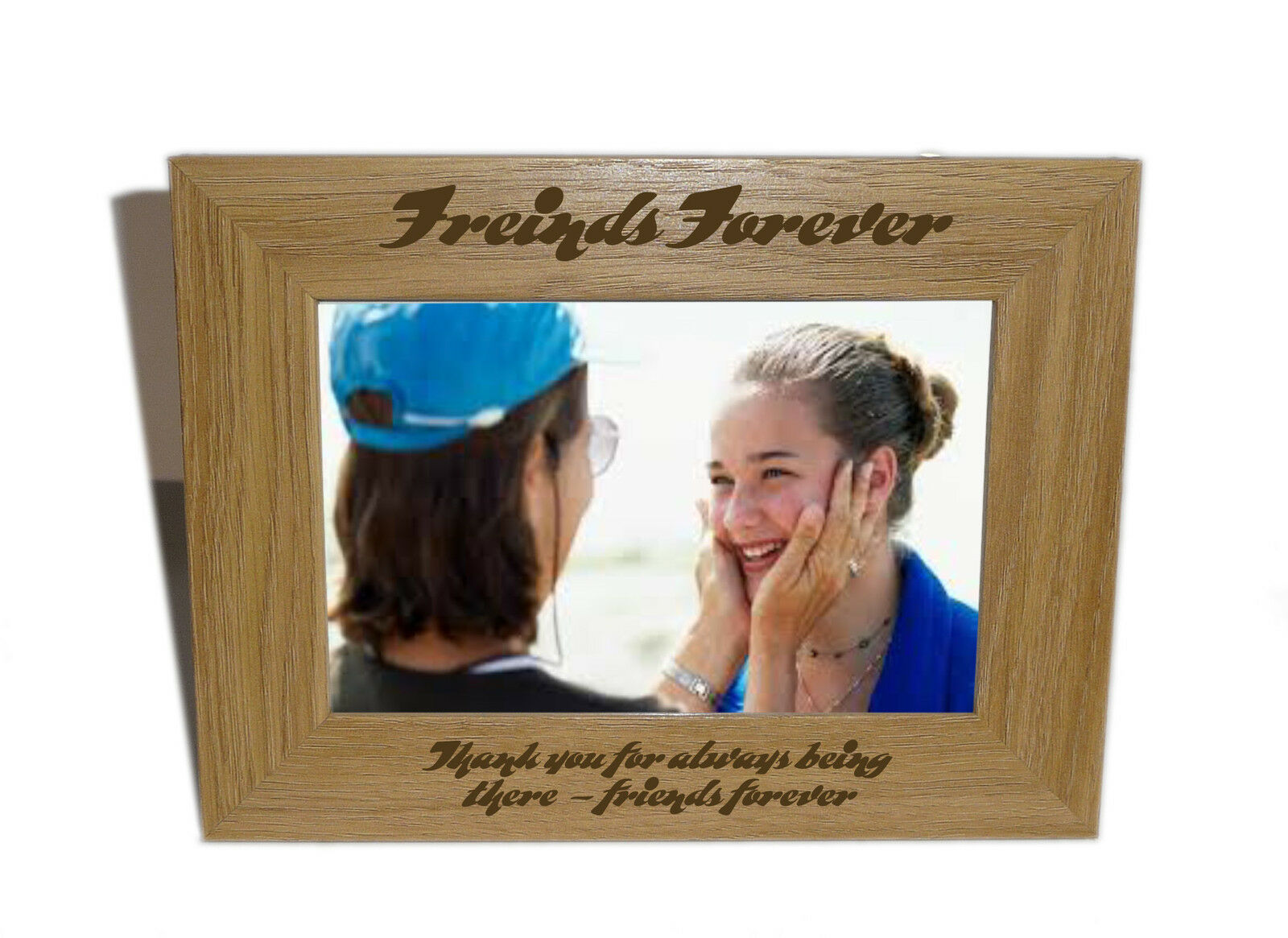 Friends Forever Wooden Photo Frame 6 X 4 - Personalise This Frame ...