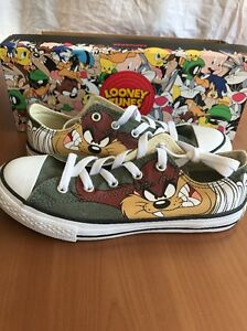 b9e52b7e398a Image is loading Converse-All-Star-Looney-Tunes-Taz-Youth-Size-