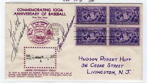 Baseball #855 FDC 1939 #18B Crosby - Lou Boudreau, Keith Hernandez Autographs