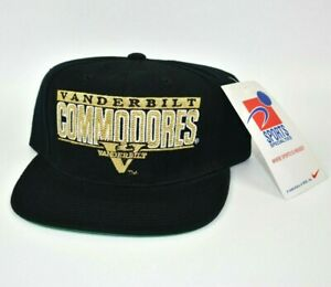 Vanderbilt-Commodores-Sports-Specialties-Pro-Shield-Vintage-90s-Snapback-Cap-Hat