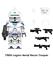 miniature 20 - STAR WARS Minifigures custom tipo Lego skywalker darth vader han solo obi yoda