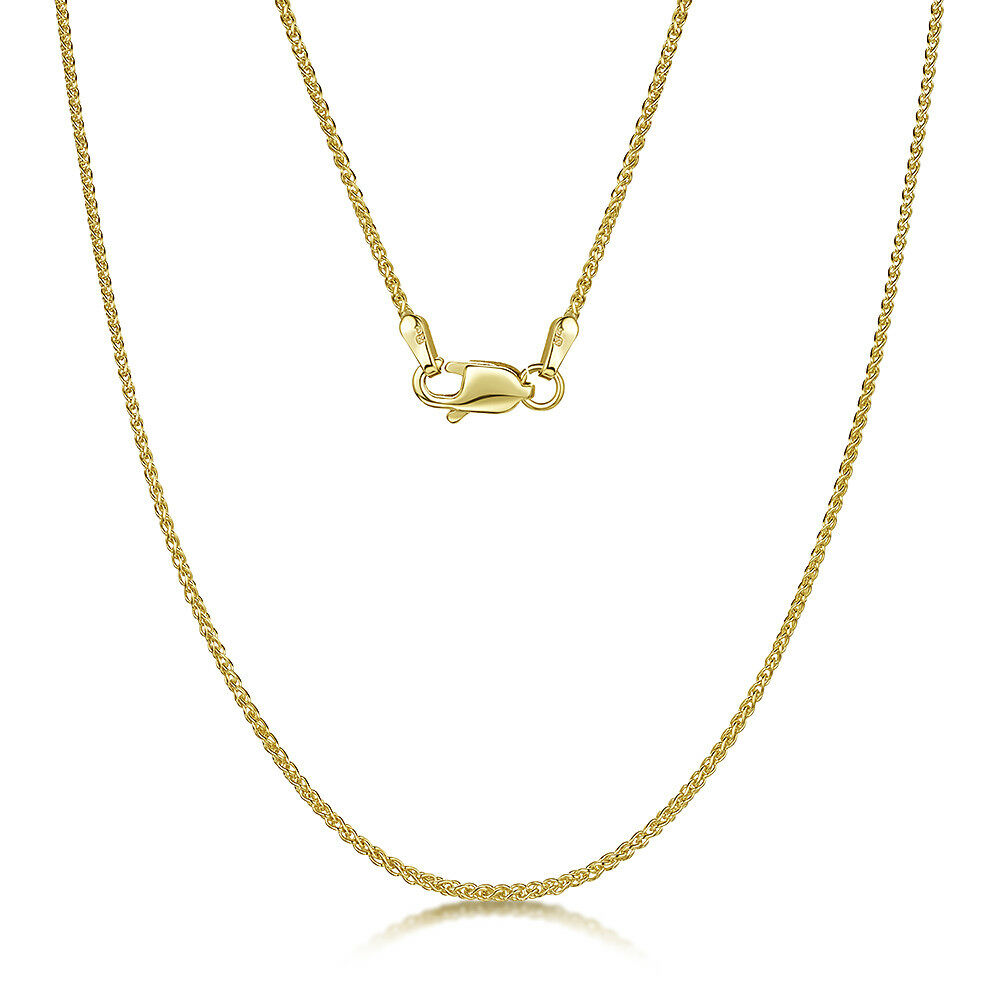9ct Yellow gold Double Spiga Chain 18'' Inch