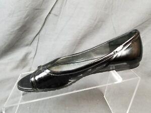 80086a265f Cole Haan Black Patent Leather Peep Toe Ballet Flats Women's US 6B ...