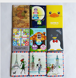 4 Style Fashion New Passport Holder PVC Leather Travel Passport Cover Card Case