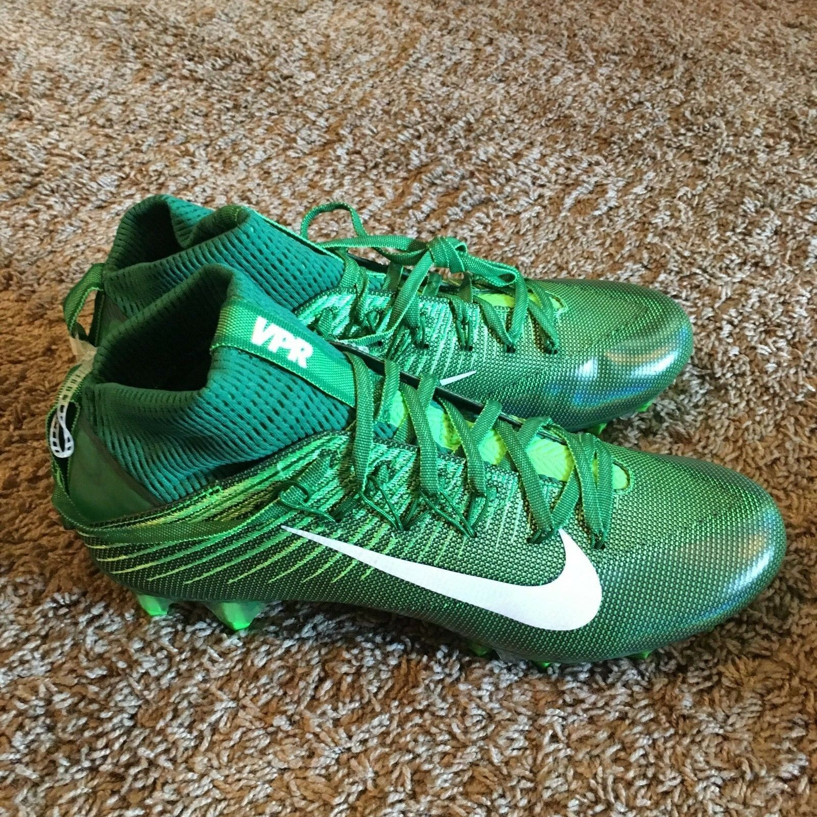 Nike Vapor Untouchable 2 Size 8.5 824470 313 Flyweave Football Cleat Green