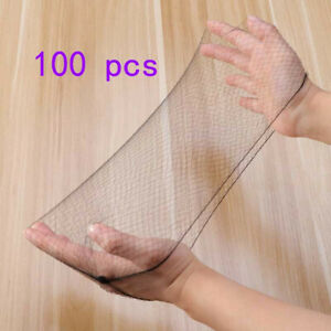 100pcs-Black-Hair-Nets-Elastic-Edge-Mesh-Net-Stretch-Invisible-Hairnet-Bun-Cover