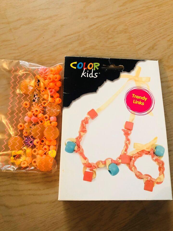 Perler/plader, Smykke fremstilling perler, Color kids
