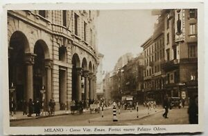 823-Antica-Cartolina-Milano-Corso-Vitt-Eman-Portici-Nuovo-Palazza-Odeon