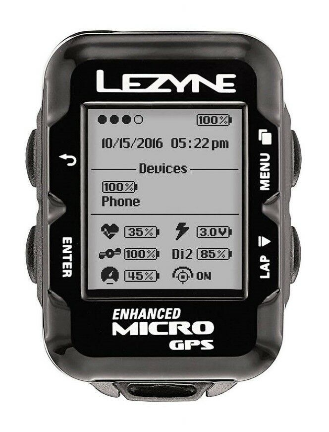 Lezyne Micro GPS Cycling Computer    Bundle with HR Monitor