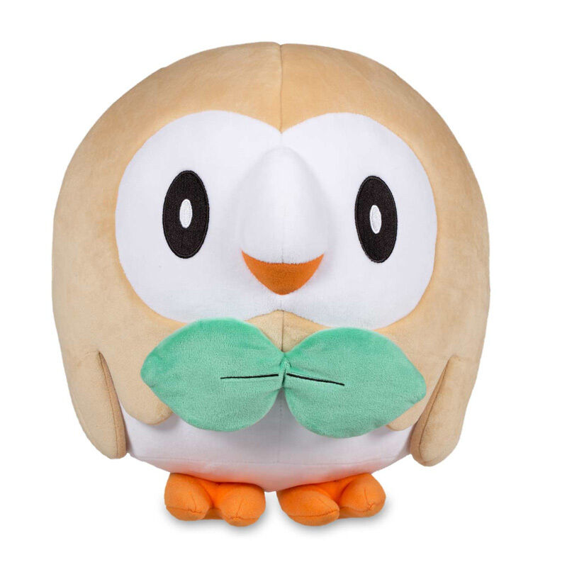 11'' Official JUMBO ROWLET Plush Dolls Cartoon Trainer Size Generation VII Gifts